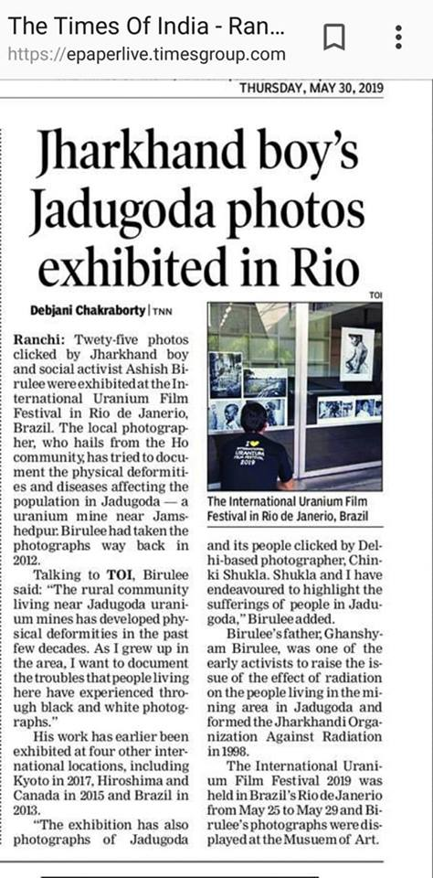 """The Daily """"Times of India"""" features a Photo Exhibition by"""